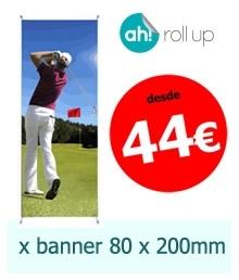 X-Banner 80 x 200 cm. desde 44 €/u